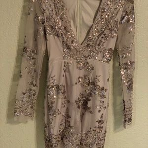 Missguided sparkle dress NEVER WORN size 2